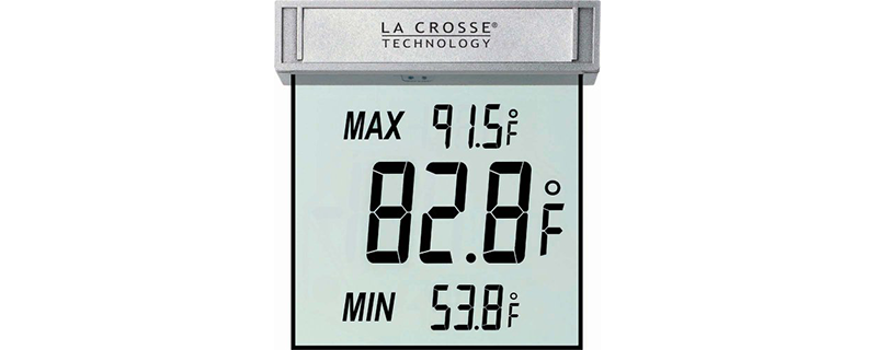 La Crosse Technology WS-1025 Detachable Bracket and Records Digital Window Thermometer