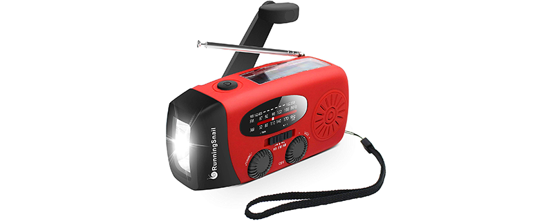RunningSnail Emergency Hand Crank Self Powered AM FM NOAA Solar Weather Radio