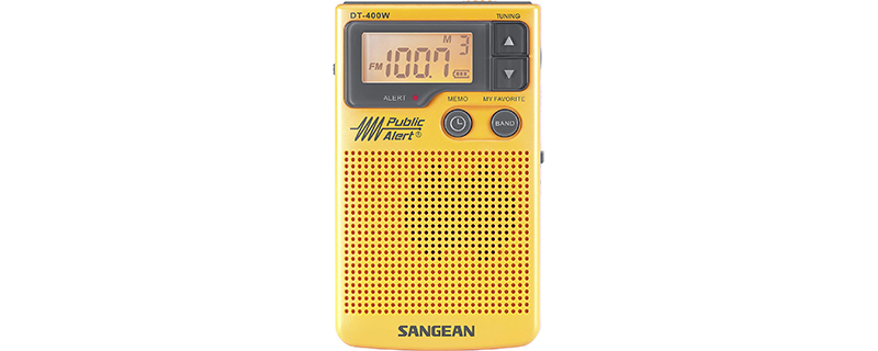 Sangean DT-400W AM FM Digital Weather Alert Pocket Radio