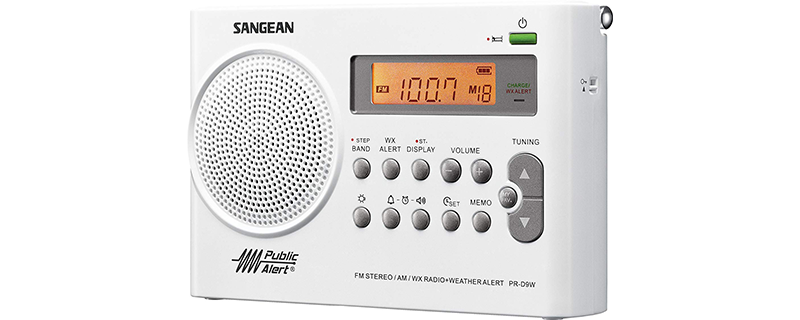 Sangean PR-D9W AM FM Weather Alert Rechargeable Portable Radio